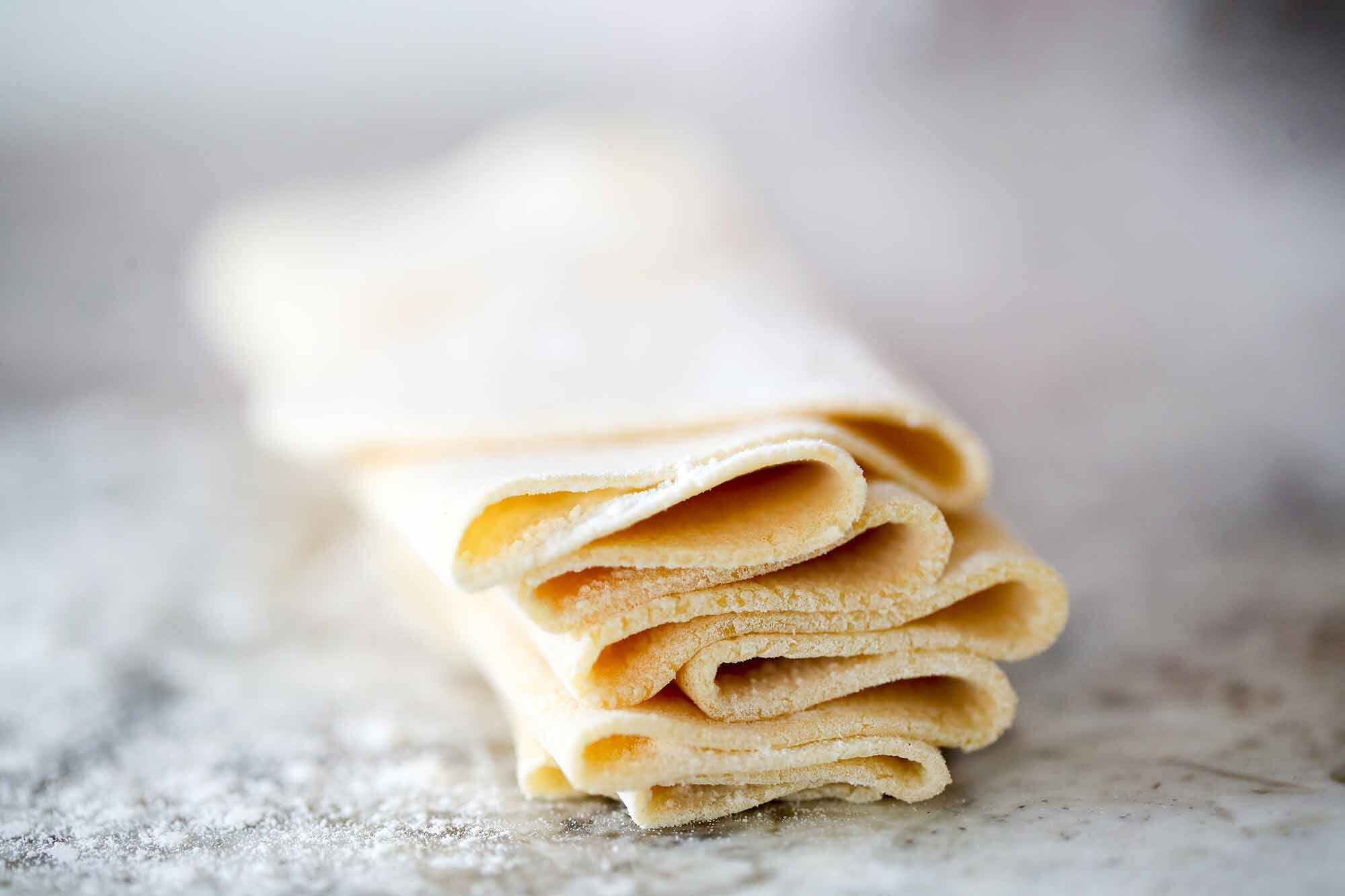 Homemade Pasta Dough Recipe pile the dough
