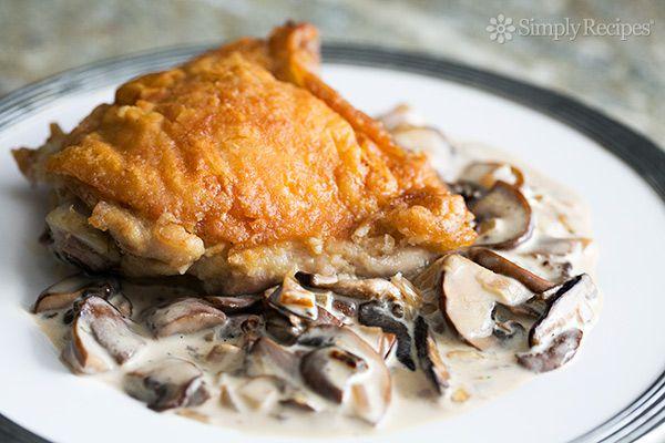 Chicken in Mushroom Cream Sauce