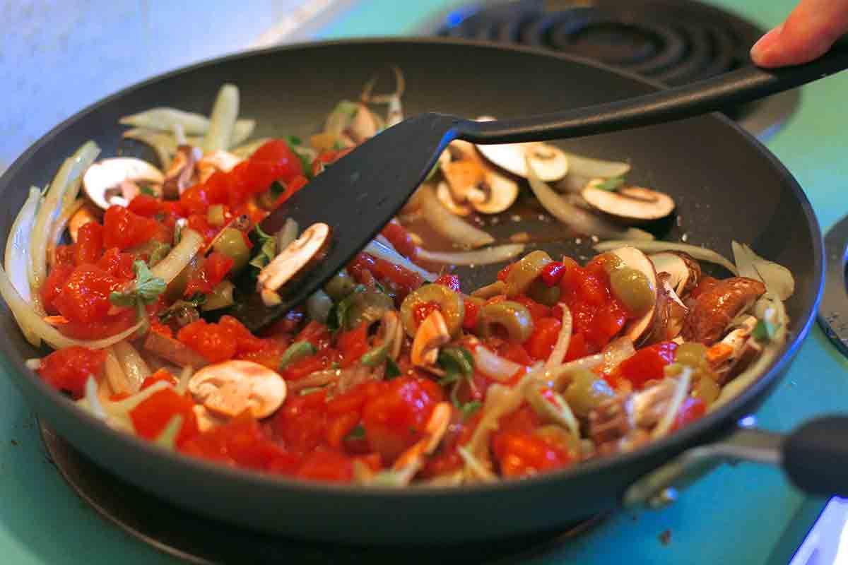 tilapia recipes - making pimiento