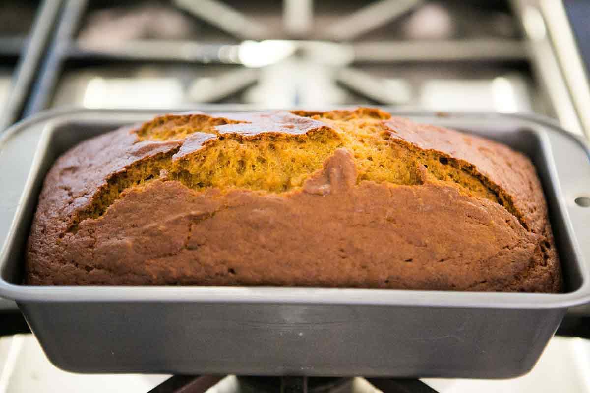 Pumpkin Bread Recipe Moist pumpkin bread warm out of the oven