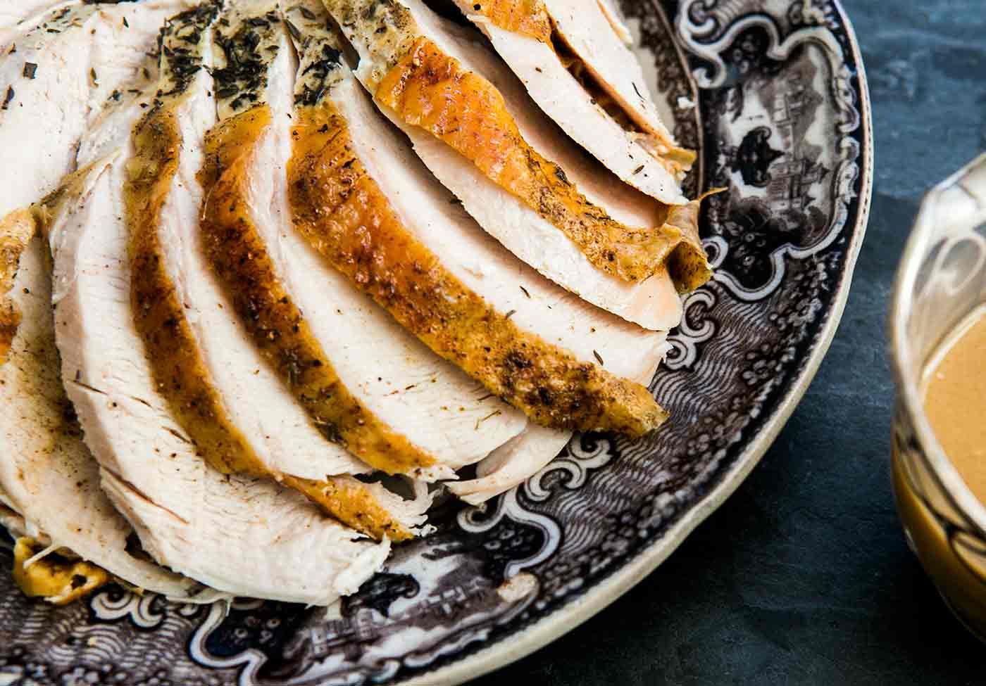 Roast Turkey Breast With Roasted Garlic Gravy Recipe