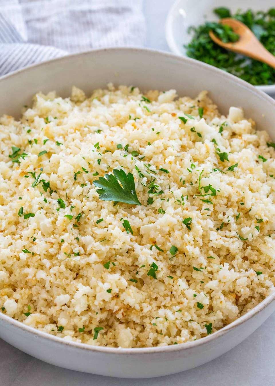 How to Make Rice from Cauliflower
