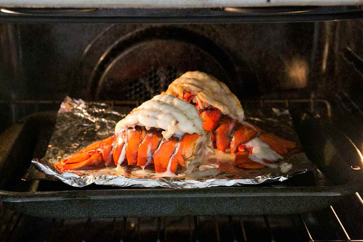 Broiled Lobster Tail in Oven