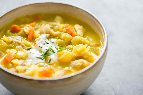 Curried Turkey Soup with Leftover Turkey