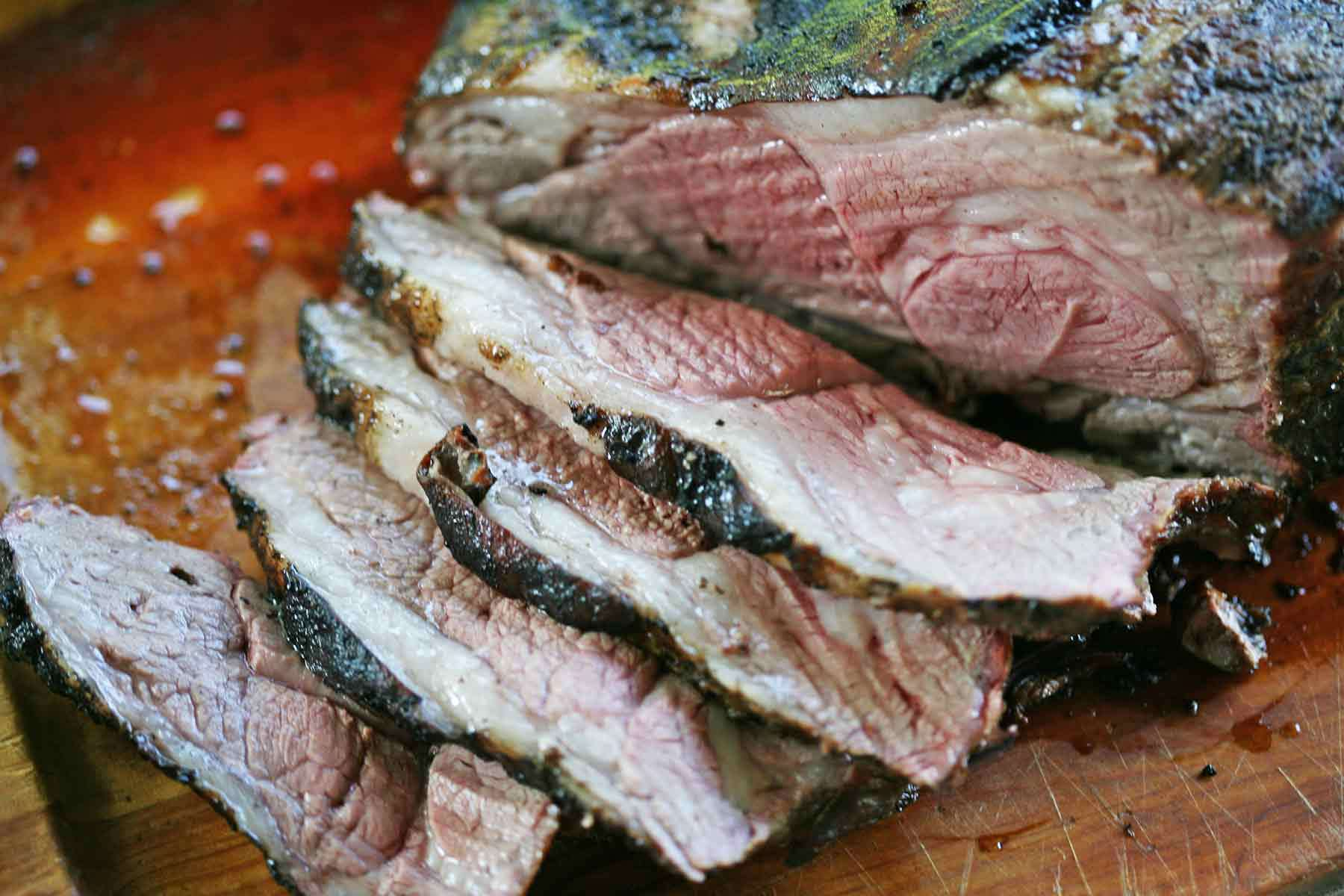 Grilled and Marinated Leg of Lamb cut into pieces