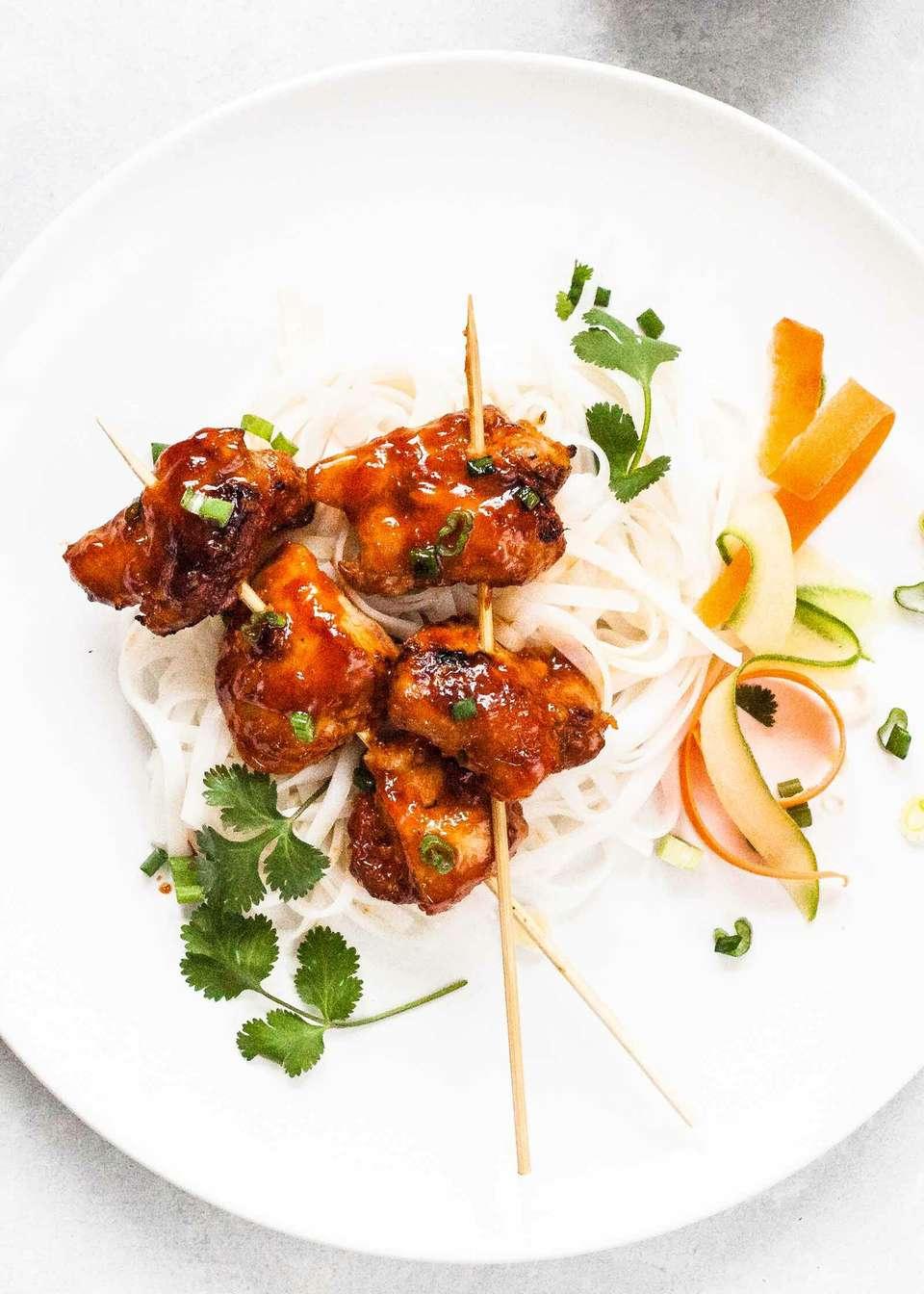 Vietnamese Sticky Chicken Skewers