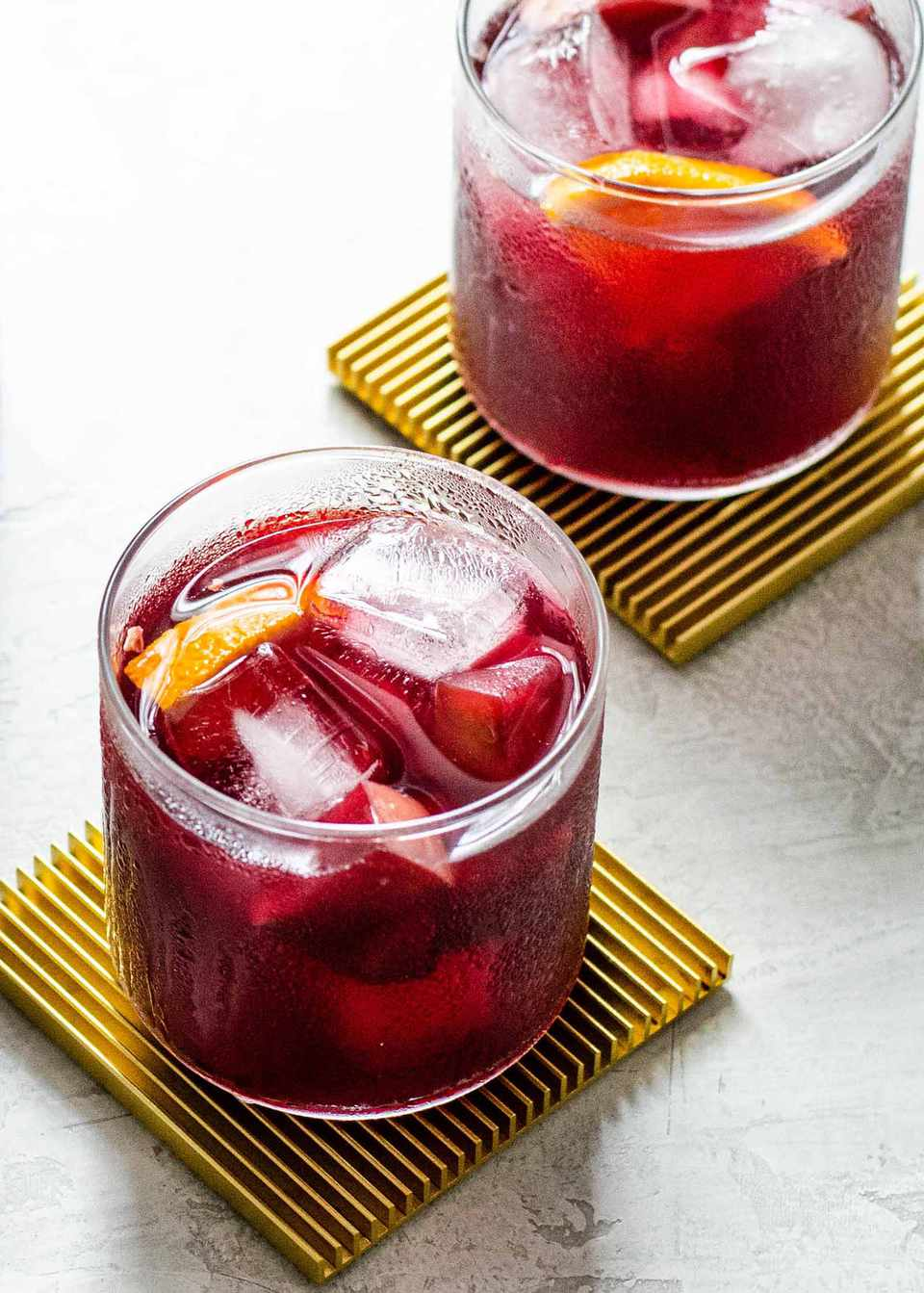 Cranberry Sangria with Apples