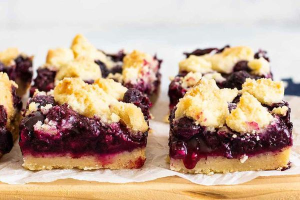 Blueberry Crumb Bars with Shortbread Crust