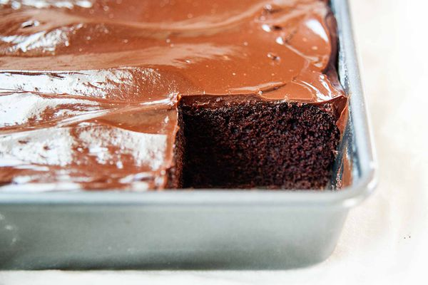 Chocolate Cake with Sour Cream Added - slice removed