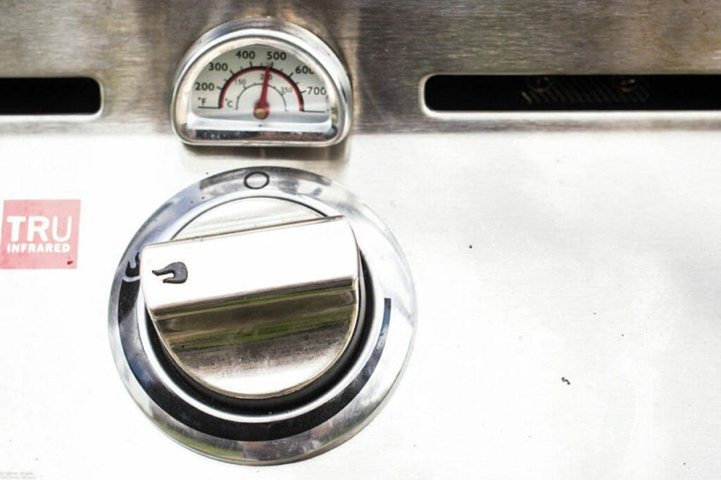 Temperature gauge on grill