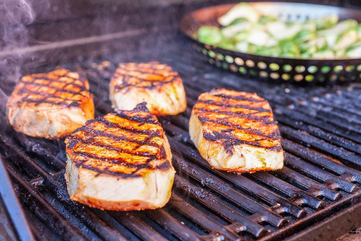 Grilled Boneless Pork Chops grill the pork chops