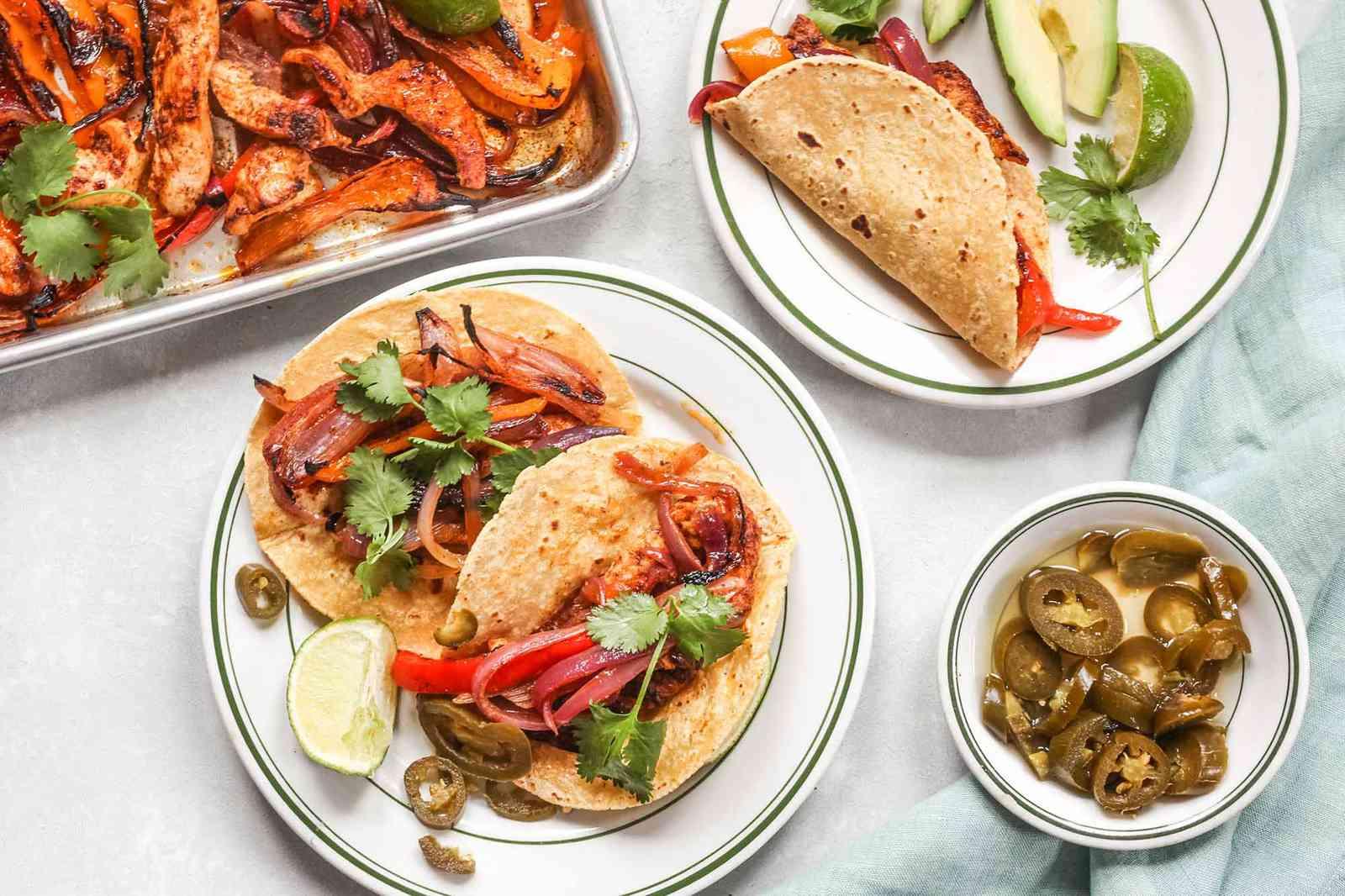 How to Make Chicken Fajitas on a Sheet Pan