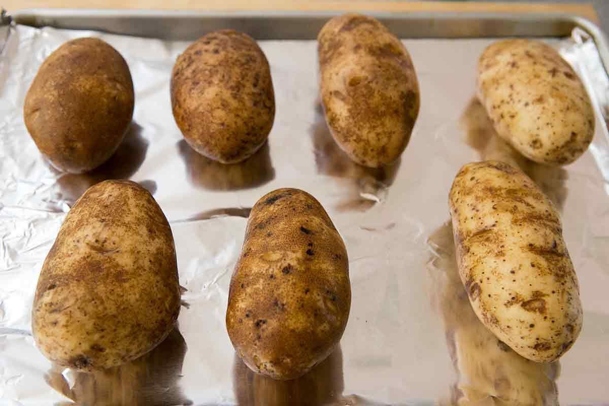 bake potatoes for baked potato soup