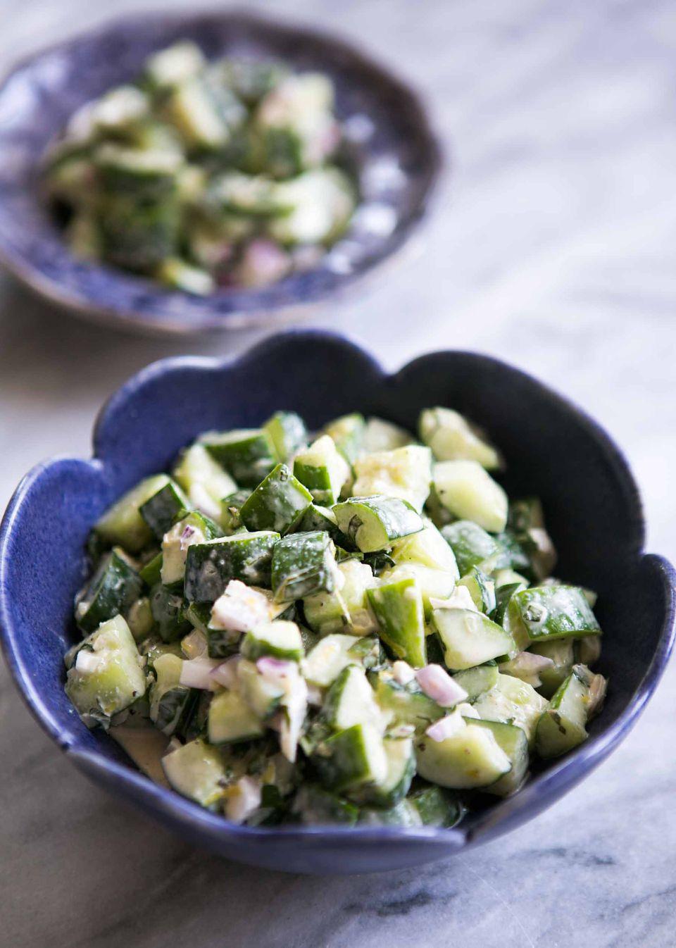 Cucumber Salad with Tahini Dressing