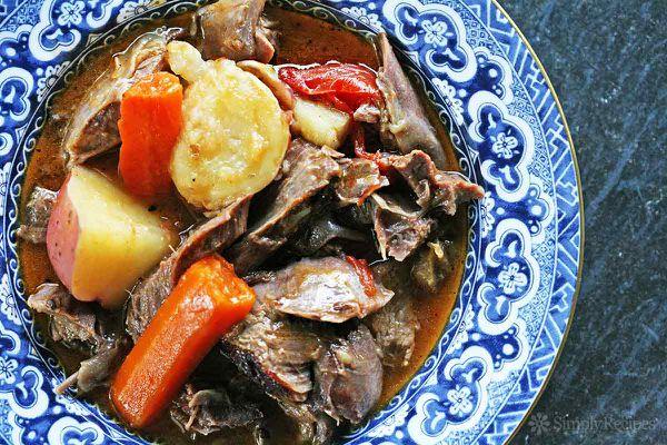 Herb Marinated Braised Lamb Shanks