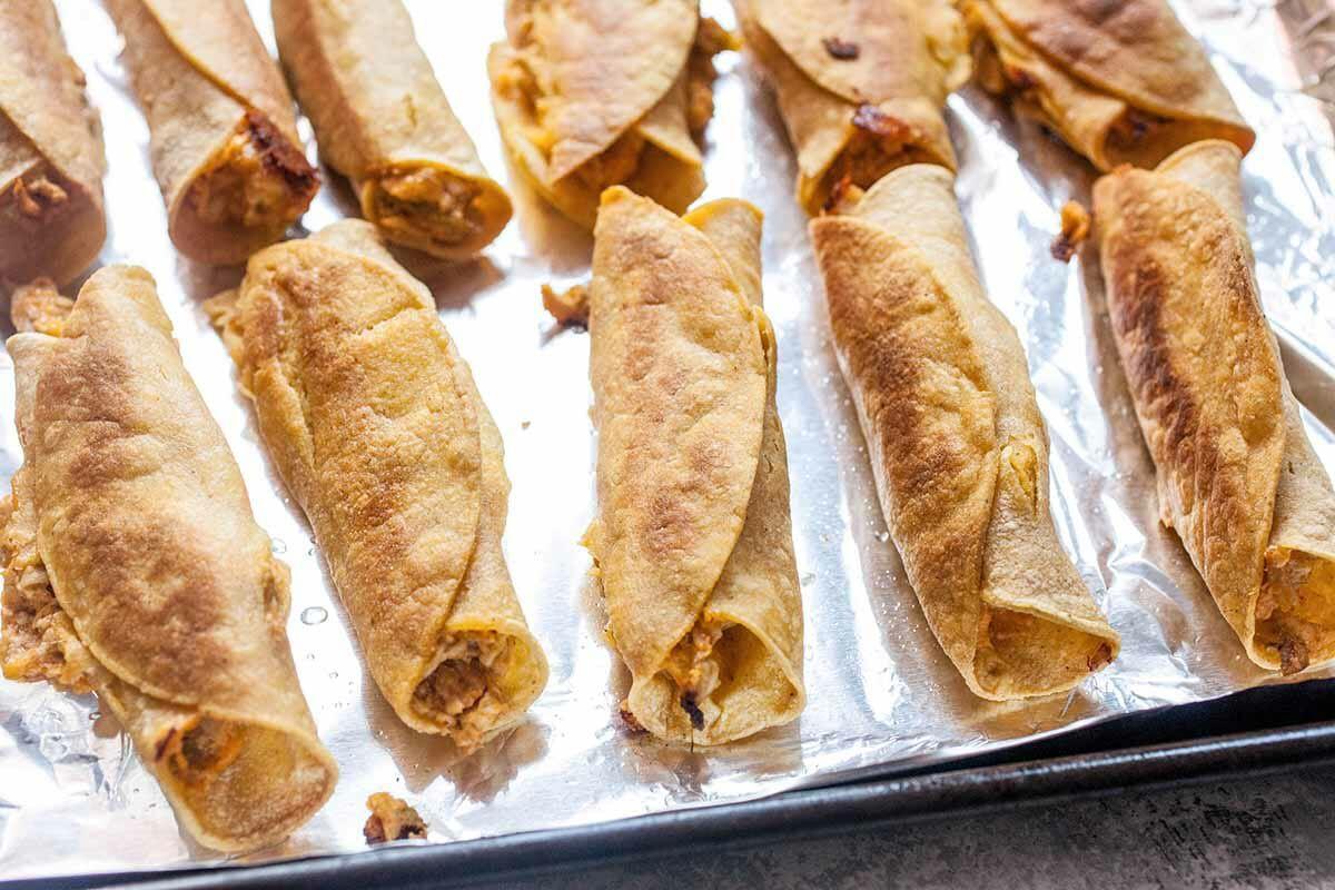 How to Make Taquitos bake the taquitos