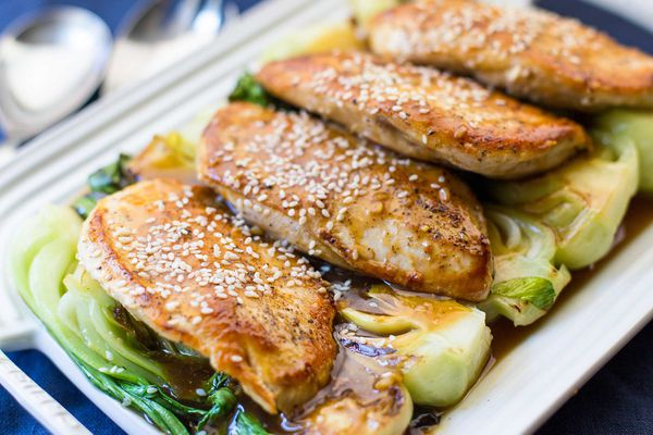 Skillet Chicken with Bok Choy