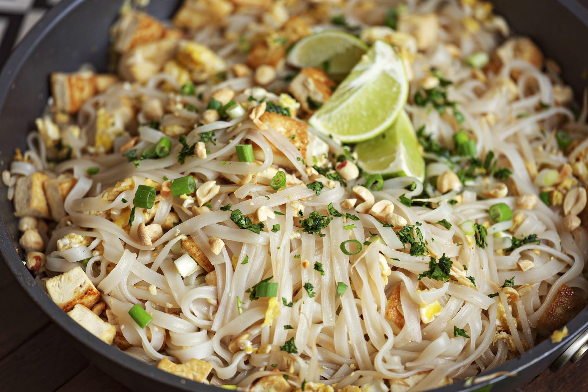 Vegetarian Pad Thai With Tofu Recipe