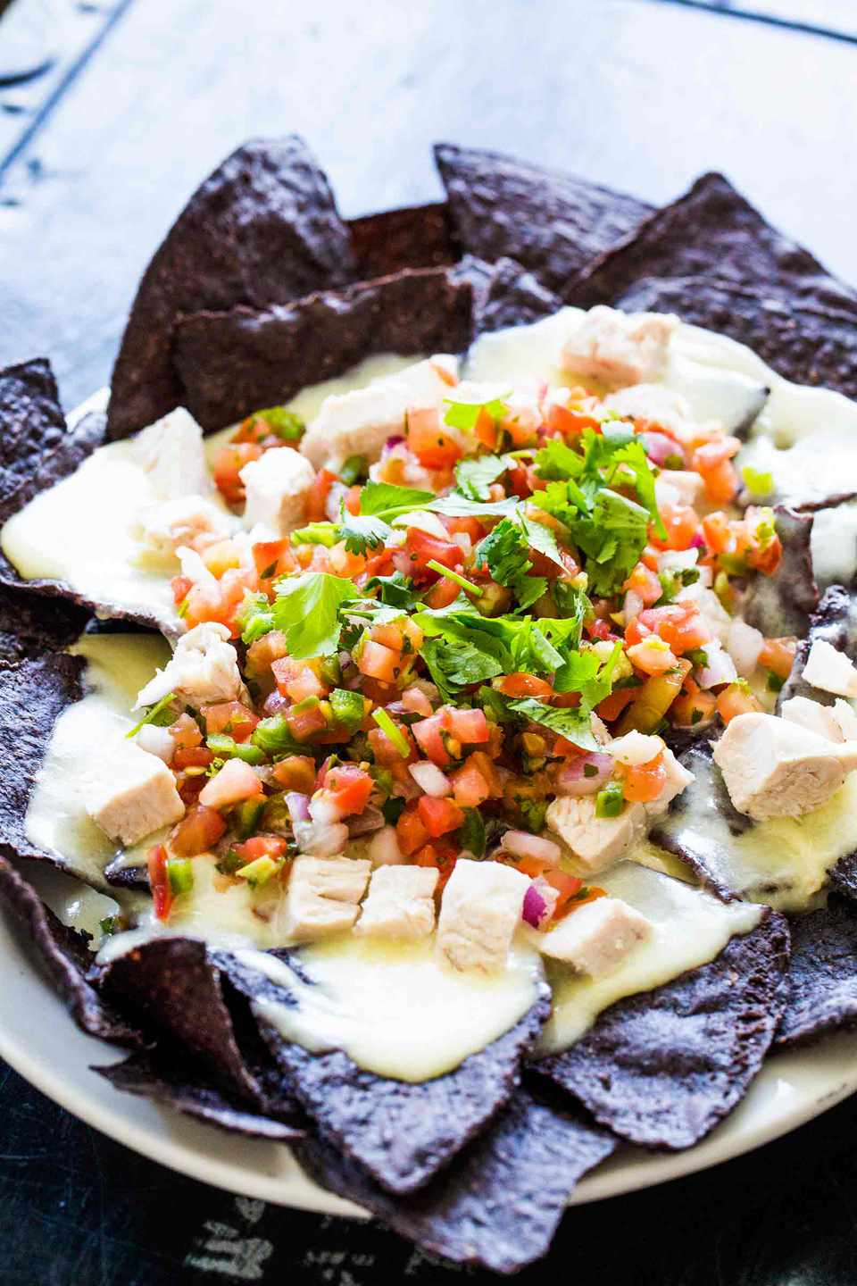 Blue Corn Chicken Nachos