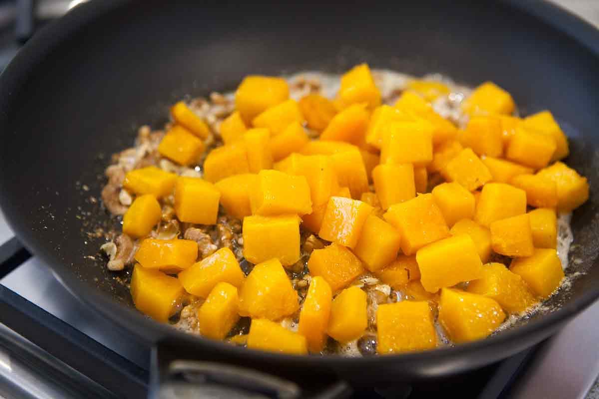 Caramelizing Butternut Squash in pan