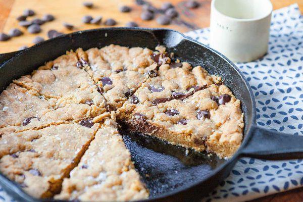 Gluten-Free Chocolate Chip Skillet Cookie