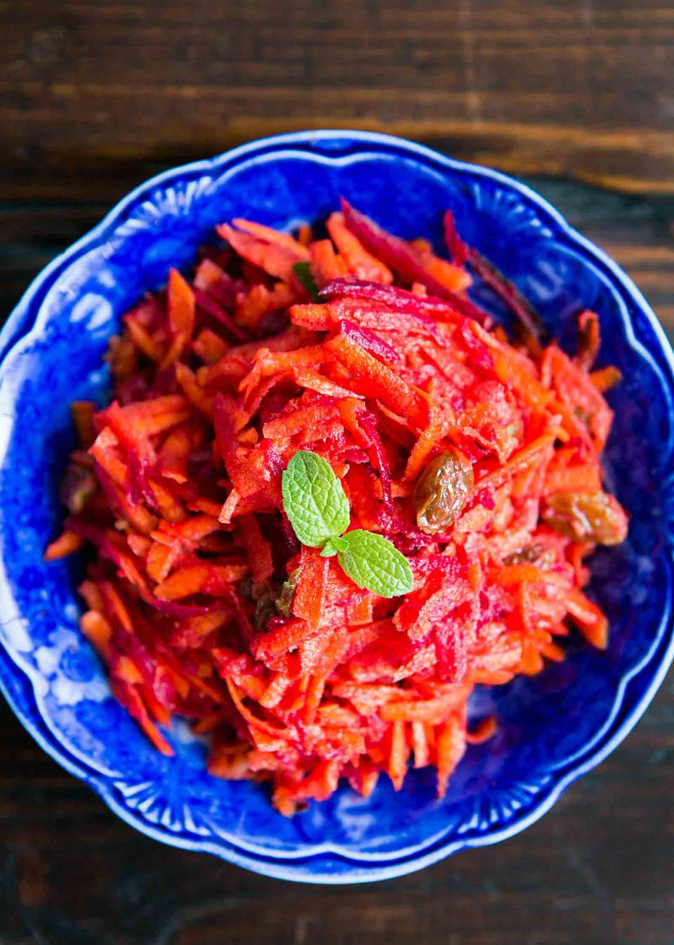 Moroccan Grated Beet and Carrot Salad