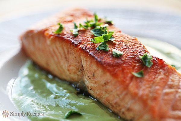 Salmon with Avocado Remoulade