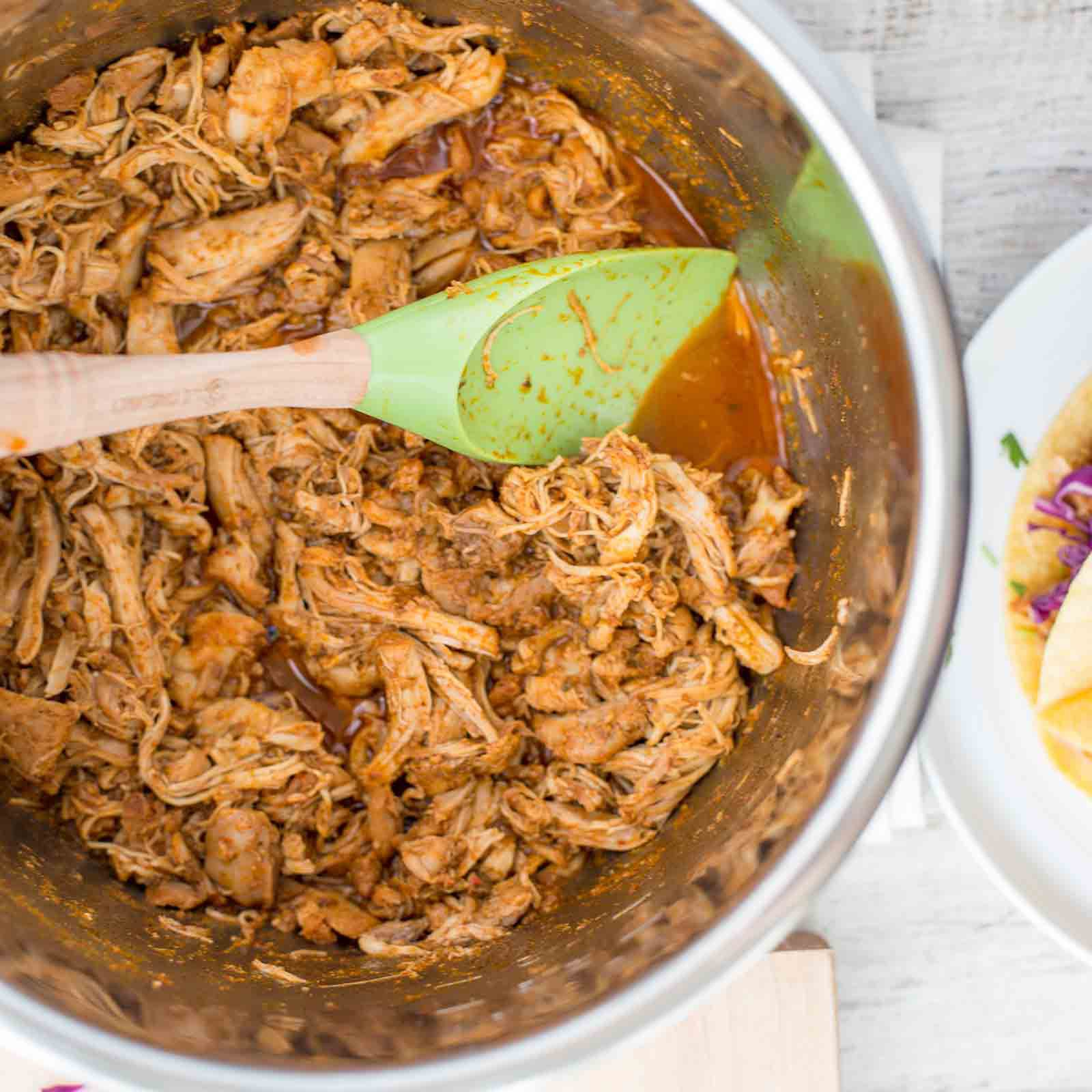 Instant Pot Shredded Chicken Taco Meat