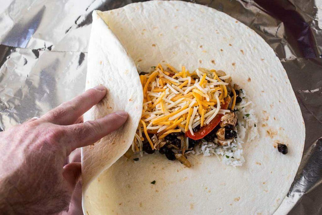 how to wrap chicken freezer burritos