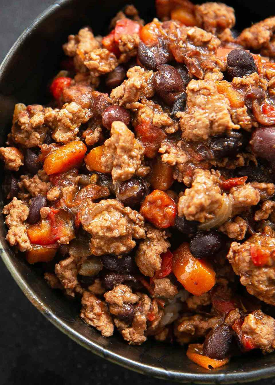 Chili with Turkey and Black Beans