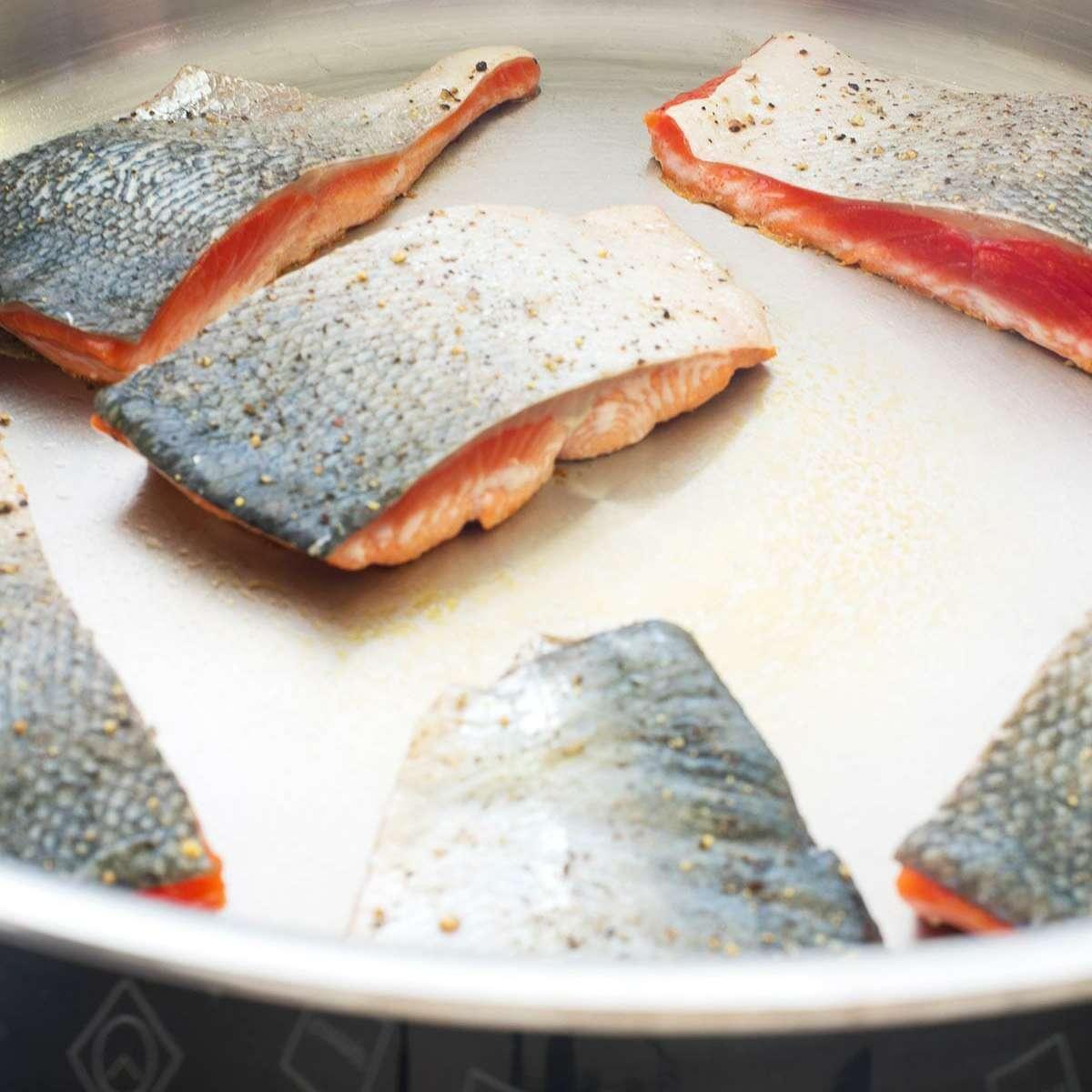 Salmon Angel Hair Pasta Recipe sear the salmon