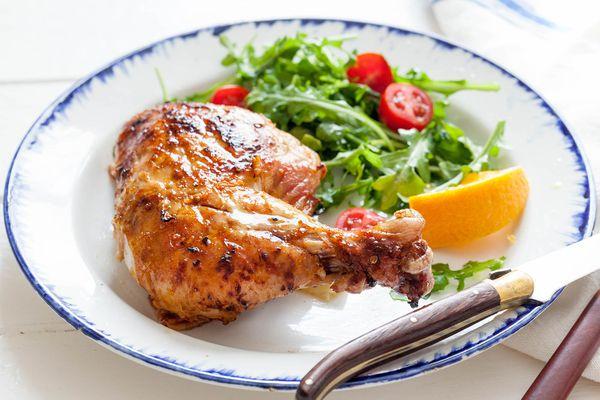 Ginger-Orange Spatchcocked Chicken