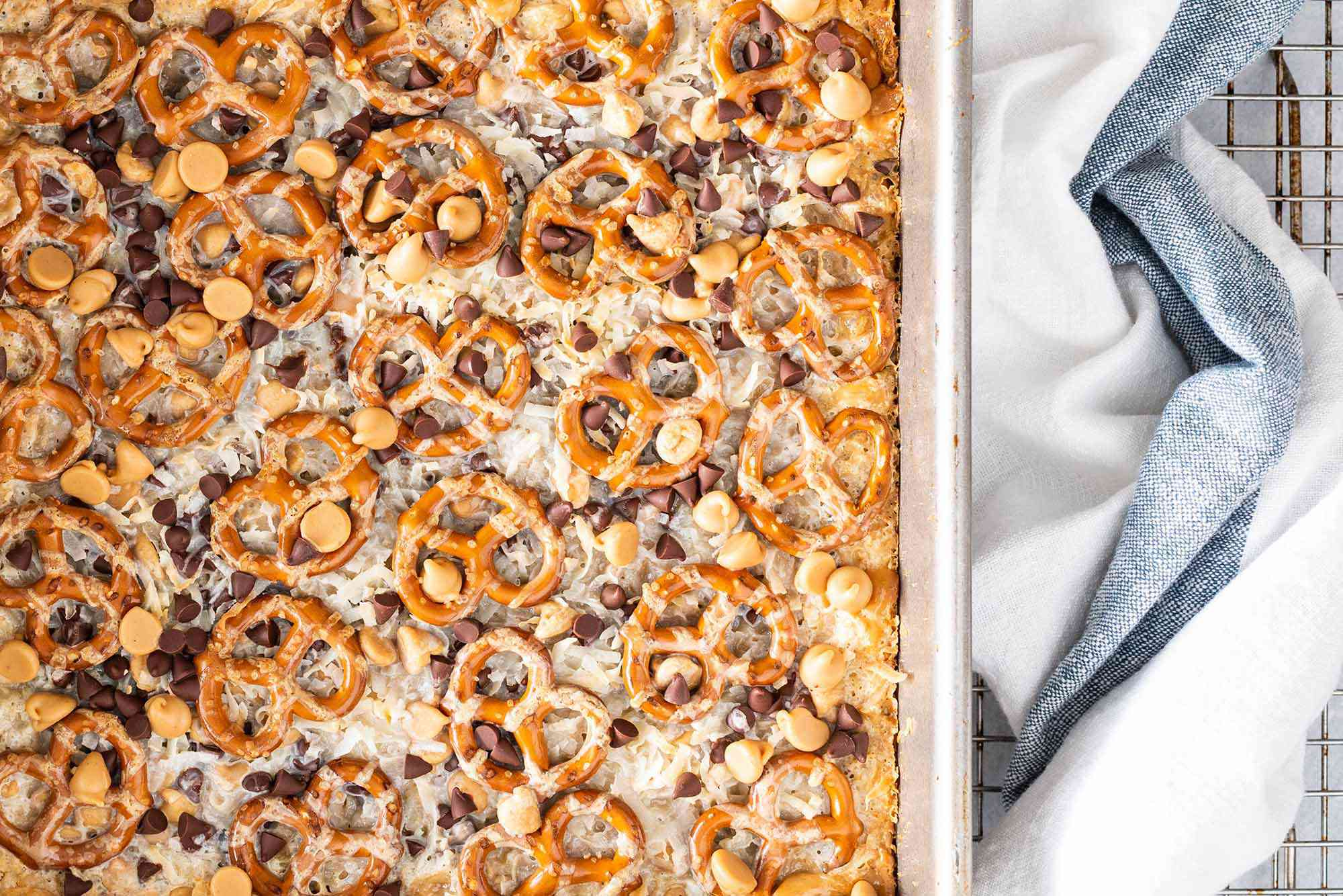 Magic Bars with Peanut Butter and Pretzels
