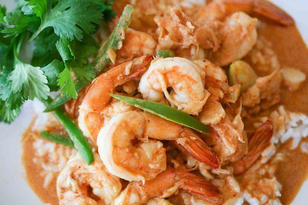 Spicy Garlic Shrimp with Rice