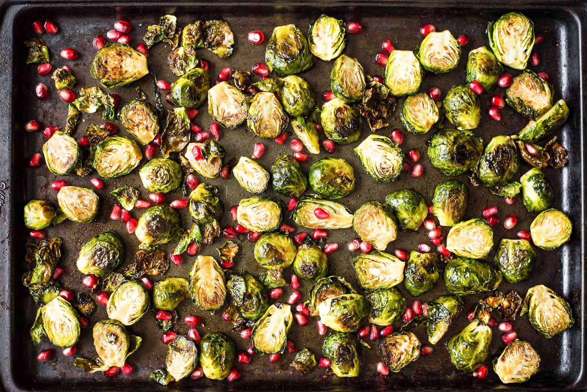 Roasted Brussels Sprouts with Pomegranate-Balsamic Glaze