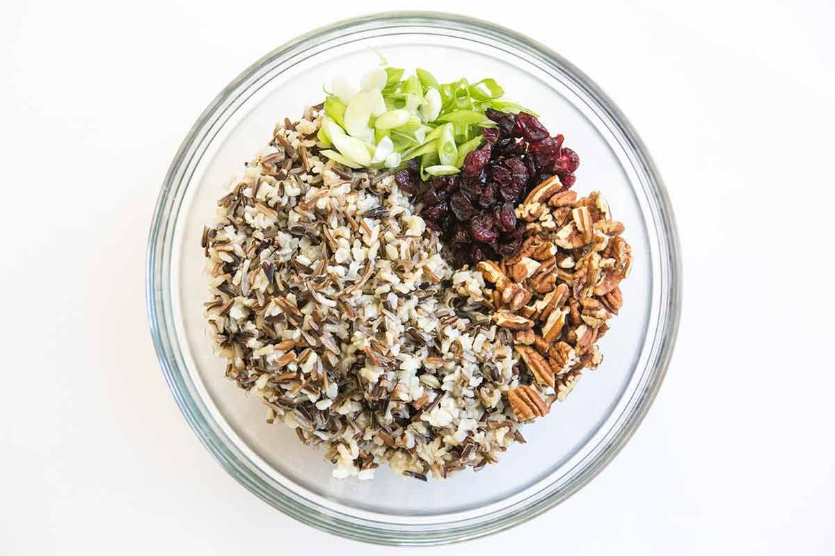 Wild Rice Cranberry Pecan Salad method