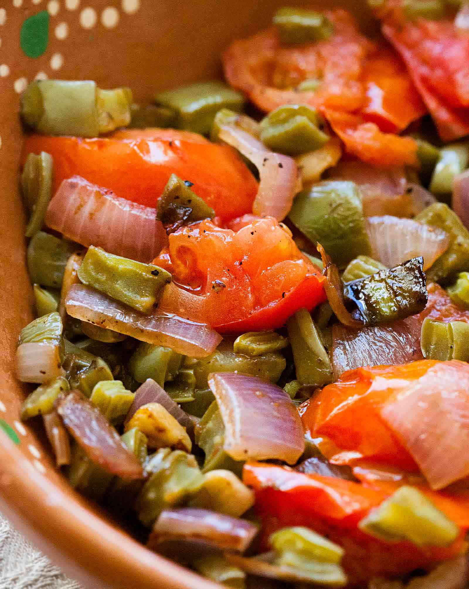 Nopalitos with Tomatoes and Onions