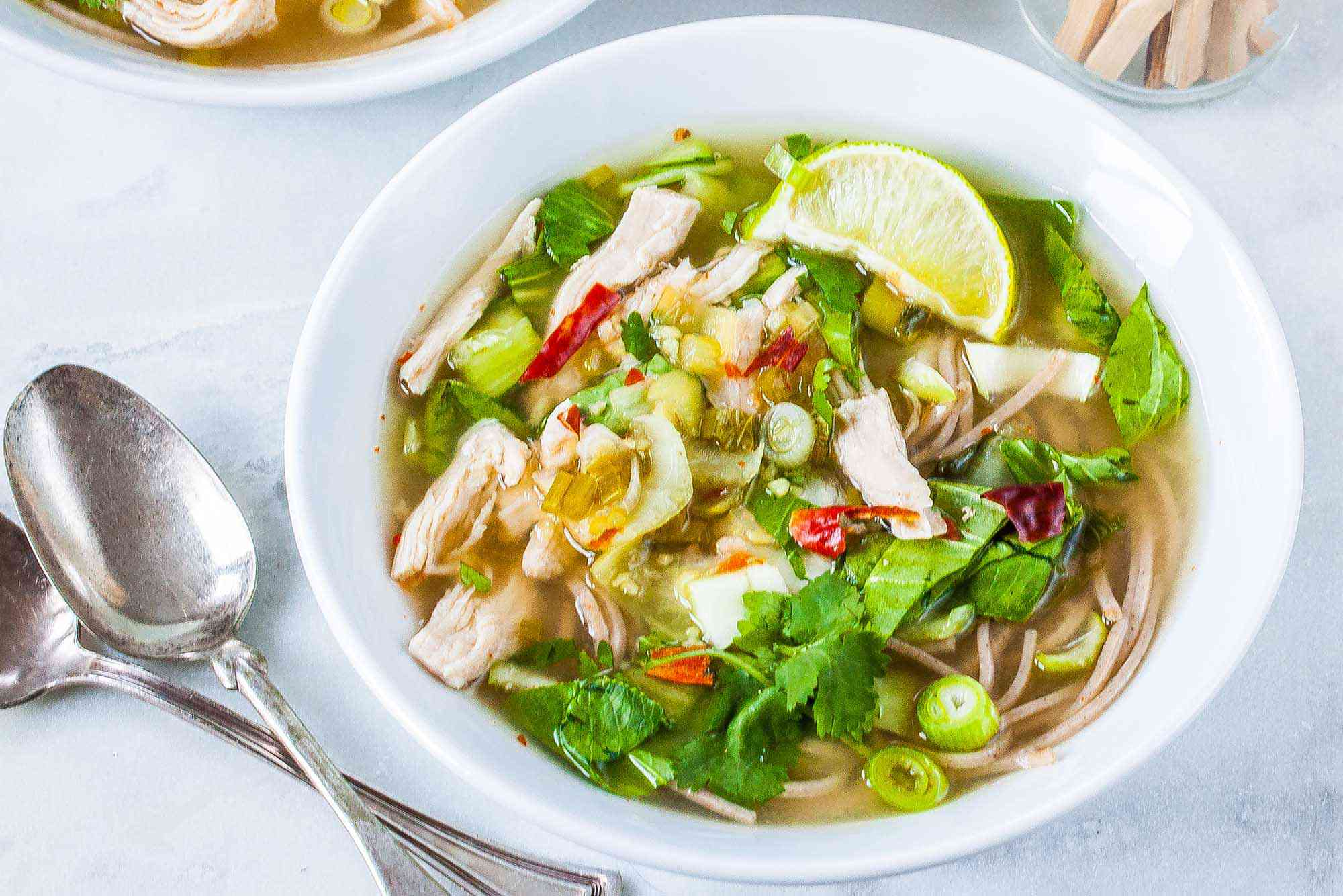 Soba Noodle Soup with Chicken and Bok Choy
