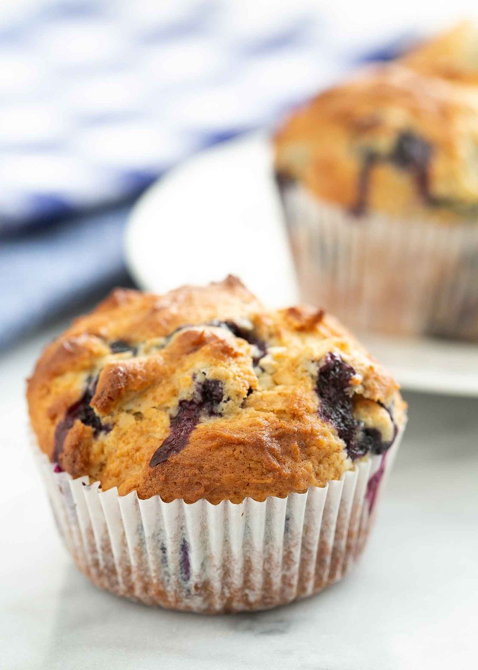 Easy Blueberry Muffins fresh from the oven