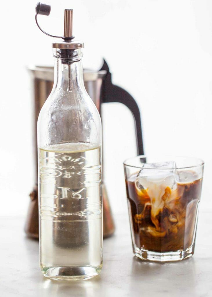 how to make simple syrup for iced coffee