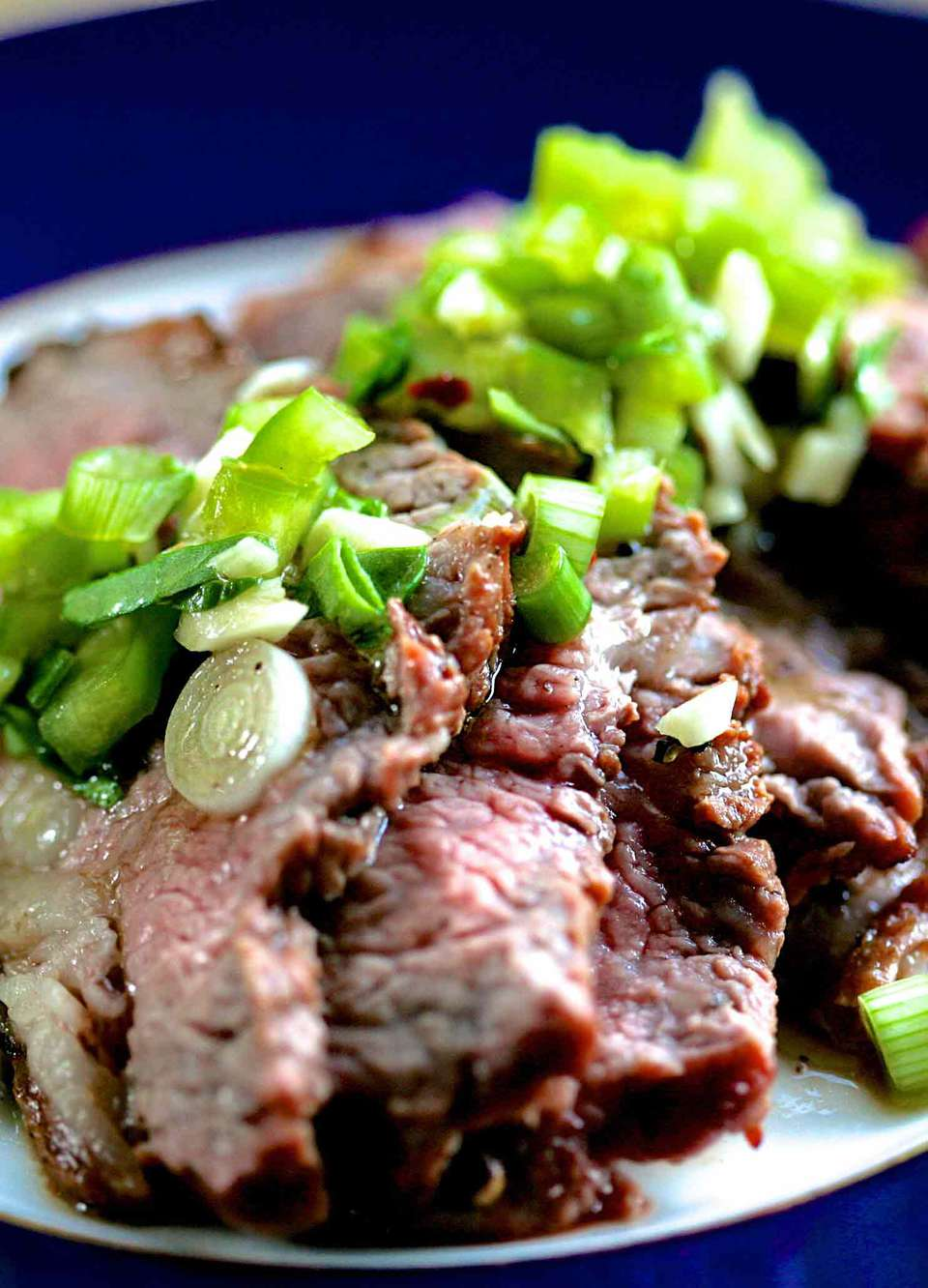 Grilled Tri Tip Steak with Bell Pepper Salsa