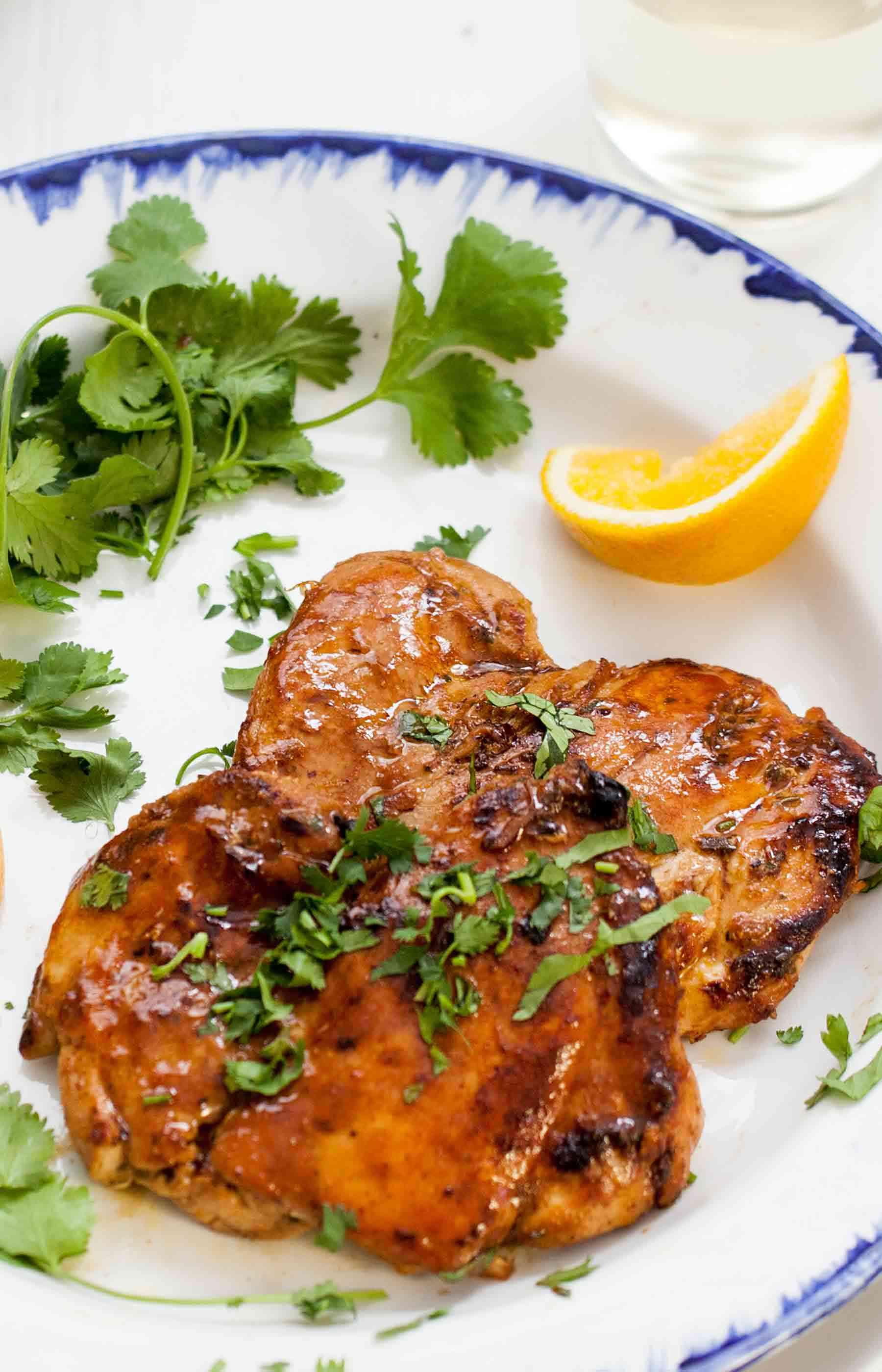 Spicy Chicken with Orange Marinade