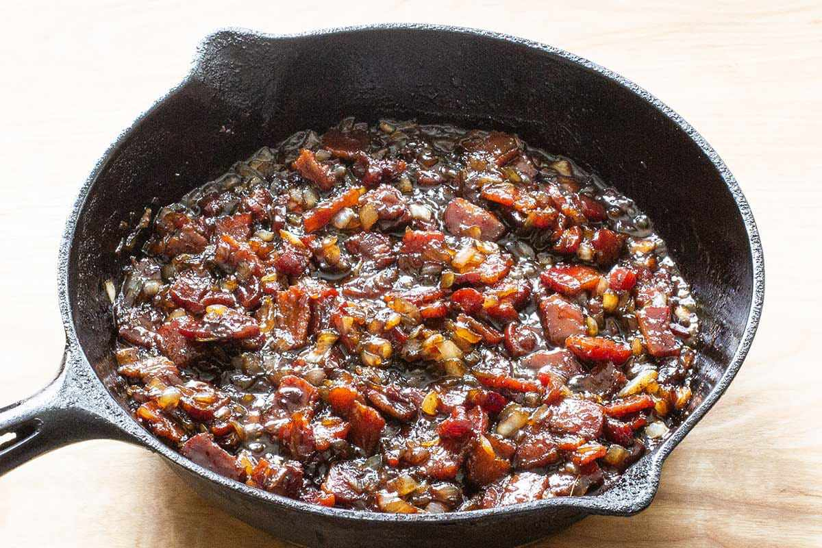 Best Bacon Jam Recipe cook the onions and garlic