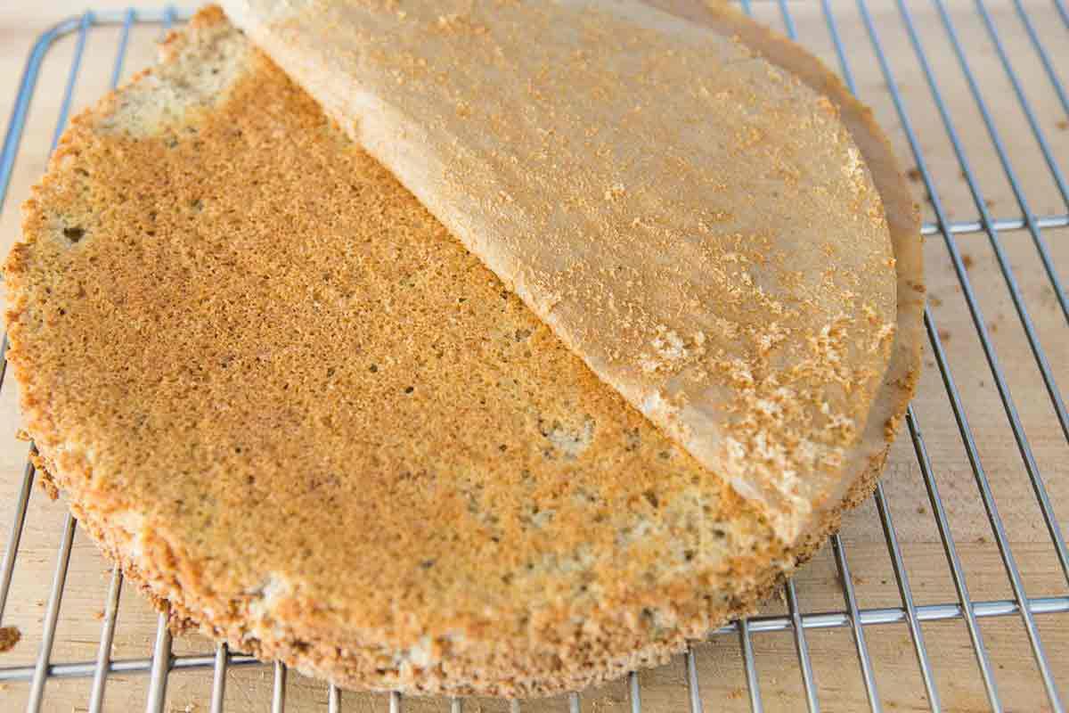 walnut mocha torte remove paper