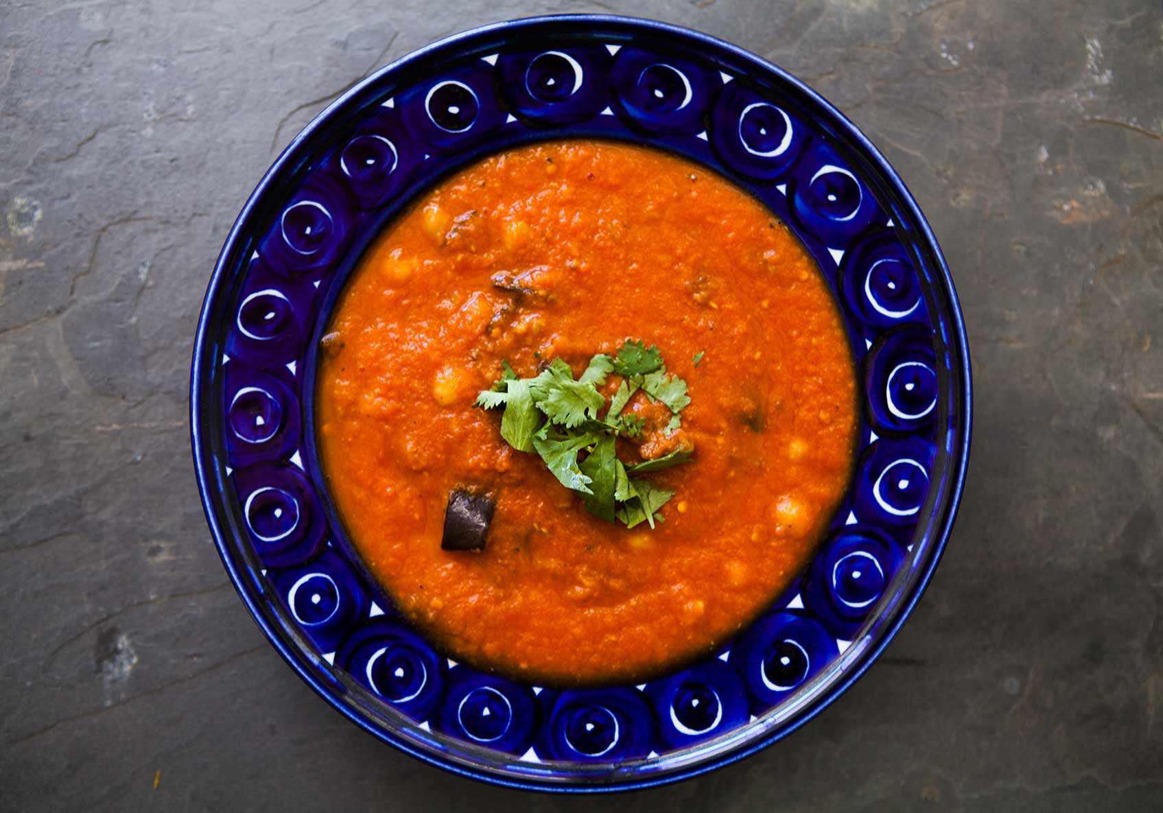 Roasted Eggplant Tomato Soup