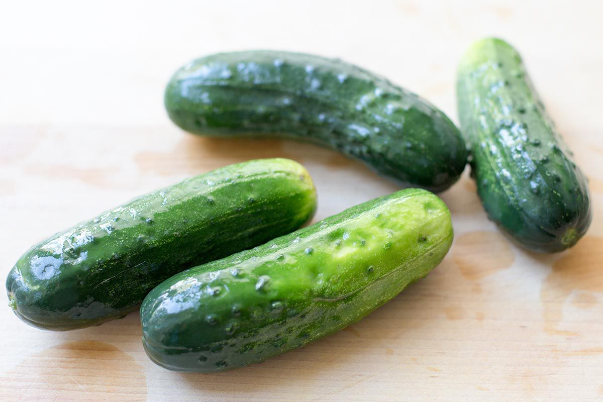 Small Kirby cucumbers with bumpy skins make the best homemade pickles