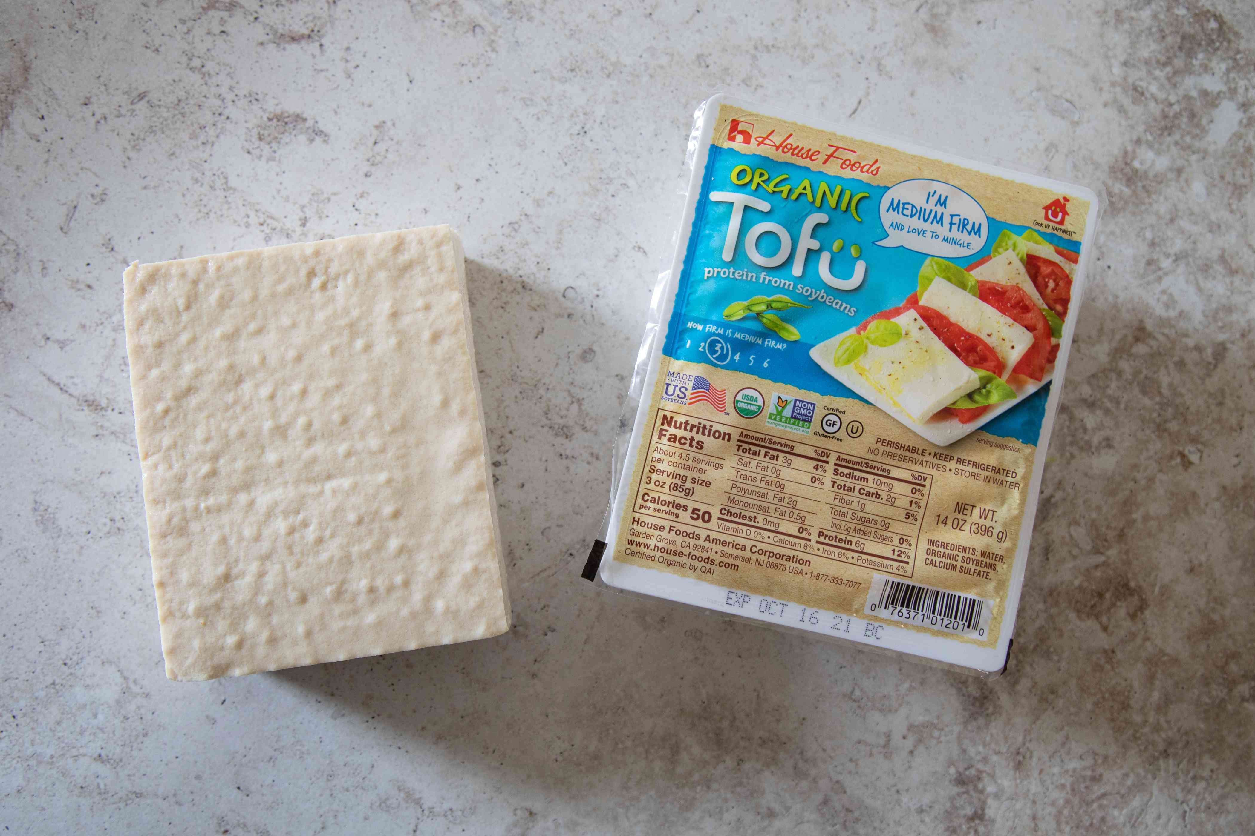 Package of medium firm tofu