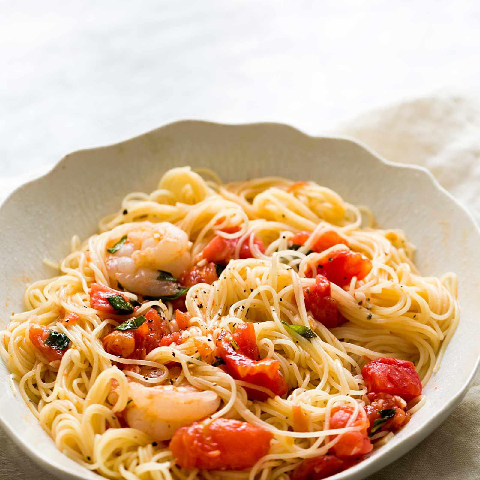 Pasta Pomodoro with Shrimp