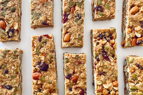 Overhead view of Chewy Granola Bars.
