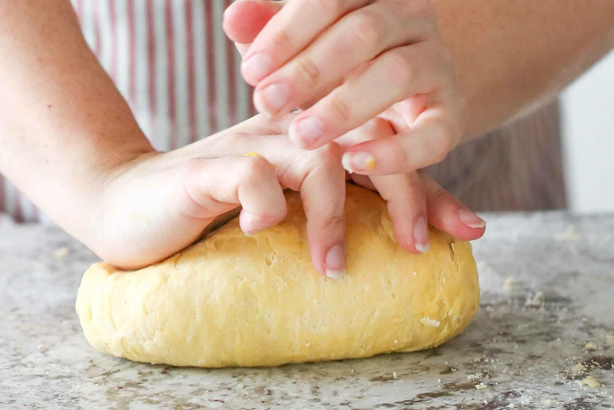 Homemade Pasta Dough Recipe continue kneading dough